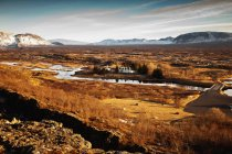 Thingvellir national park in autumn, Iceland — Stock Photo