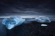 Ice on Jokulsarlon beach, Hornafjordur, Islanda — Foto stock