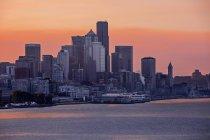 Vista panoramica del paesaggio urbano di Washington al tramonto, Stati Uniti — Foto stock