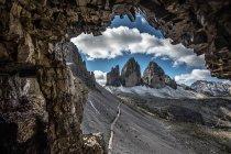 Trois cimes mountain range, Dolomites, Italy — Stock Photo
