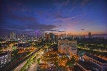 Міський пейзаж Куала-Лумпура, Малайзія — стокове фото
