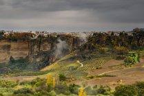 Vue panoramique sur la ville de Ronda, Malaga, Andalousie, Espagne — Photo de stock