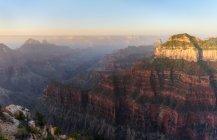 Sonnenaufgang am hellen Engelspunkt, Nordrand, Grand Canyon, arizona, Amerika, Vereinigte Staaten — Stockfoto