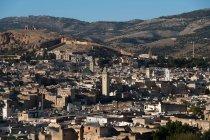 Aussichtsreichen Blick auf die Skyline von City, Fez, Fez-Meknes, Marokko — Stockfoto