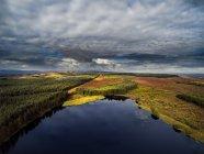 Vue aérienne du paysage, Irlande du Nord, Royaume-Uni — Photo de stock