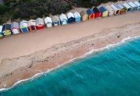 Vista aerea delle baite sulla spiaggia di Brighton, Melbourne, Victoria, Australia — Foto stock