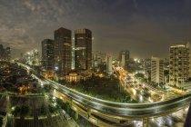 Міський пейзаж Джакарти, Індонезія — стокове фото