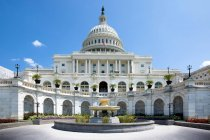 Scenic view of The United States Capitol at Capitol Hill, National Mall, Washington D.C — Stock Photo