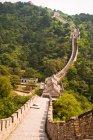 Велика Стіна розділ в Mutianyu, Китай, поблизу Пекін — стокове фото