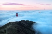 Scenic view of Golden Gate Bridge, San Francisco, California, America, USA — Stock Photo