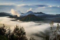 Vue panoramique du paysage Mt Bromo, est de Java, Indonésie — Photo de stock