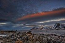 Vue panoramique sur le paysage côtier, Lofoten, Nordland, Norvège — Photo de stock