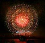 Vista panorâmica de fogos de artifício bonitos uma noite, malta — Fotografia de Stock