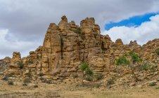 Живописный вид рок формаций, Бага Gazariin Чулуу, Монголия — стоковое фото