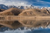 Scenic view of Diaz Lake, Lone Pine, California, America, USA — Stock Photo