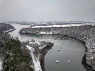Aerial view of a rural winter landscape, Cork, Ireland — Stock Photo