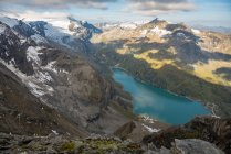 Mooserboden dam and reservoir, Kaprun, Zell am See, Salisburgo, Austria — Foto stock