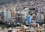 Vista panoramica del paesaggio urbano la paz, bolvania — Foto stock