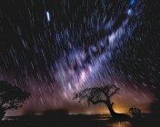 Vue panoramique sur Star trail, Island point, Mandurah, Australie occidentale, Australie — Photo de stock