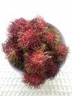 Vista de primer plano de Cuenco de frutas Rambutan - foto de stock