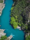 Aerial view of river, Queenstown, South Island, New Zealand — Stock Photo