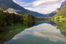 Blick auf Hintersee, Ramsau, Berchtesgaden, Bayern, Deutschland — Stockfoto