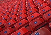 Empty seats in a stadium, scenic view interior — Stock Photo