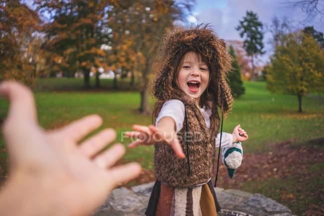 Cute smiling little girl — Stock Photo