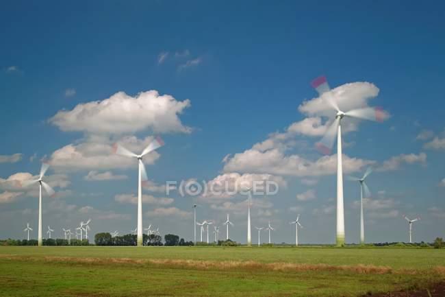 Wind turbines farm in Germany — Stock Photo