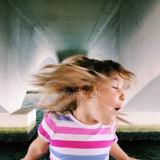 Girl shaking head — Stock Photo