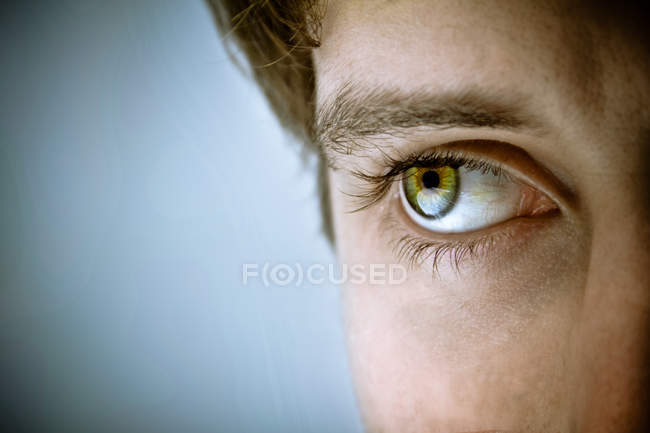 Green male eye — Stock Photo