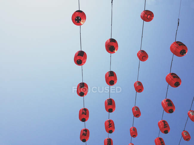 Rote chinesische laternen — Stockfoto