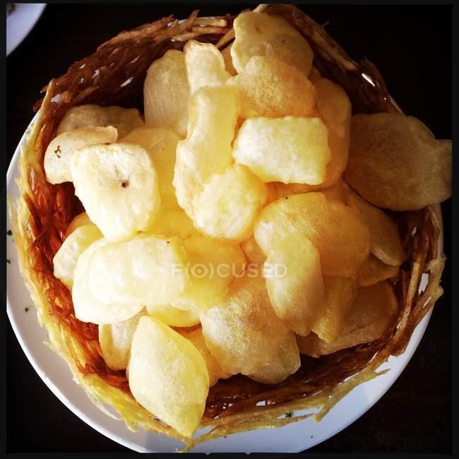 Croquant de pommes chips — Photo de stock