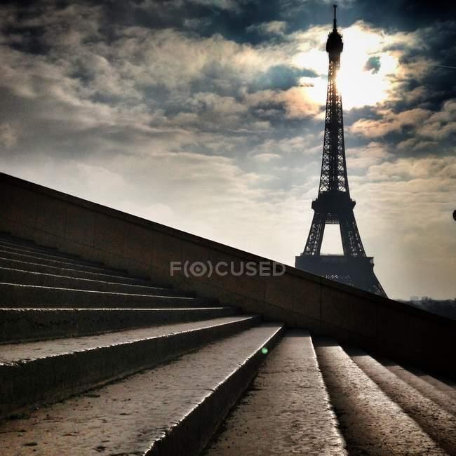 Famosa torre eiffel — Foto stock