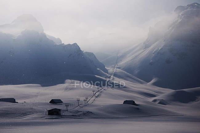 Teleféricos de esqui na Suíça — Fotografia de Stock