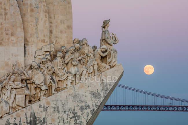 Super Luna su Lisbona — Foto stock