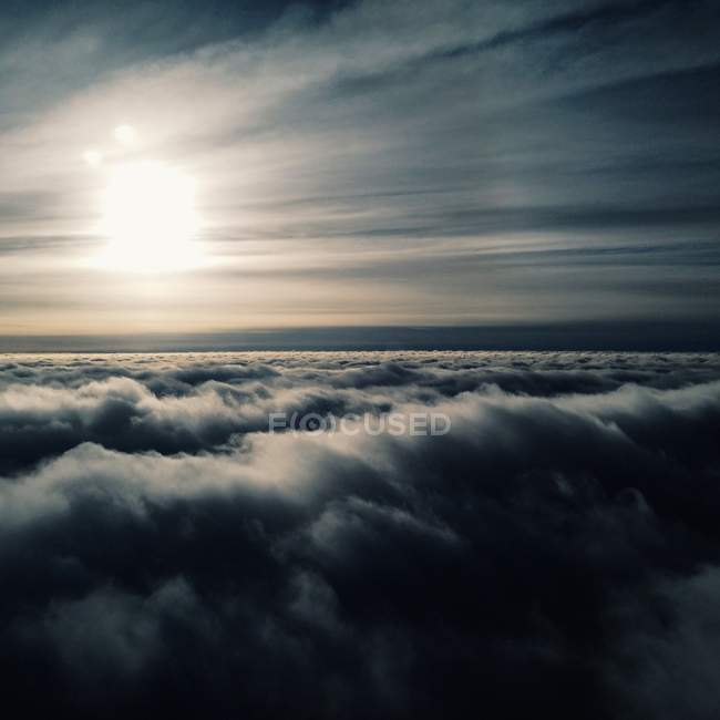 View of upper layer of clouds — Stock Photo