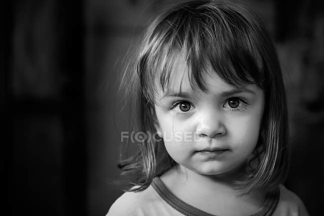 Young girl with big beautiful eyes — Stock Photo