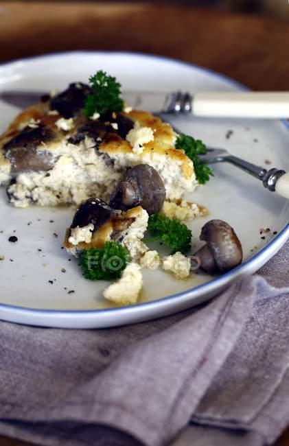 Teller mit Ei-Omelette — Stockfoto