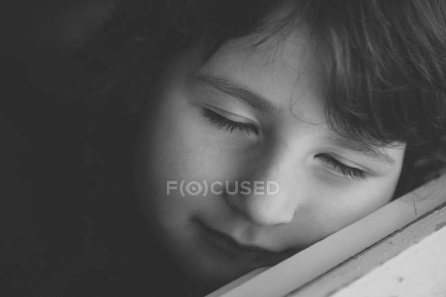 Portrait of girl with closed eyes — Stock Photo