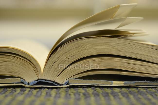 Close up view of open book — Stock Photo