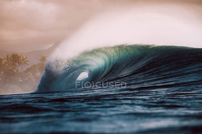Huge wave at sunset — Stock Photo