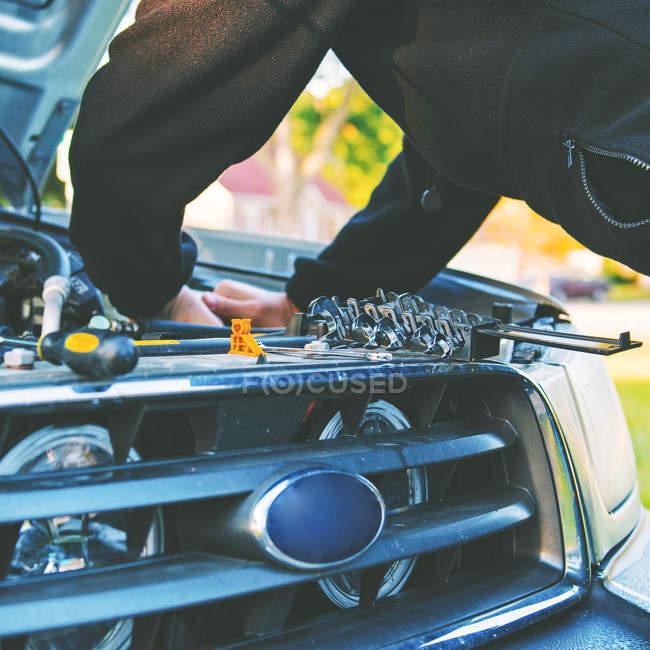 Befestigung Auto Fahrkunst. — Stockfoto