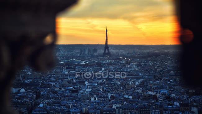 Eiffel Tower at sunset — Stock Photo