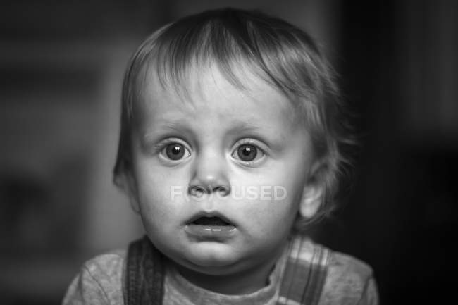 Little boy with facial expression — Stock Photo