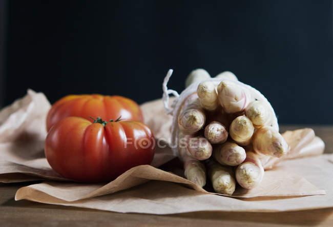 Studioaufnahme von Gemüse — Stockfoto