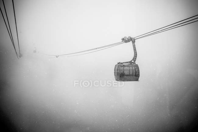 Gondola in forte neve caduta a Whistler — Foto stock