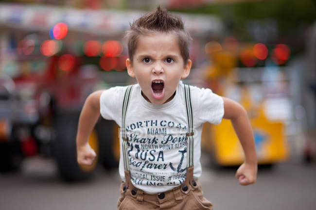 Little boy roaring — Stock Photo