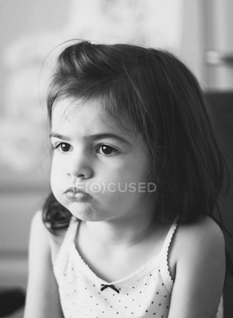 Little girl with facial expression — Stock Photo