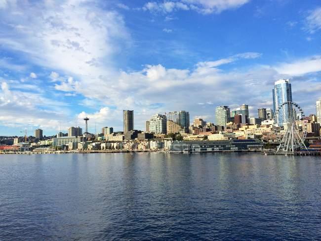 Estado de Washington, horizonte de Seattle - foto de stock